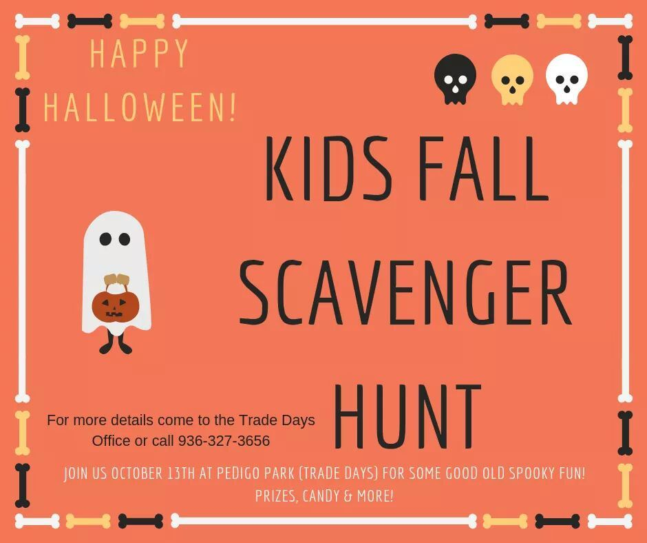 Kids Fall Scavenger Hunt October 13 2018