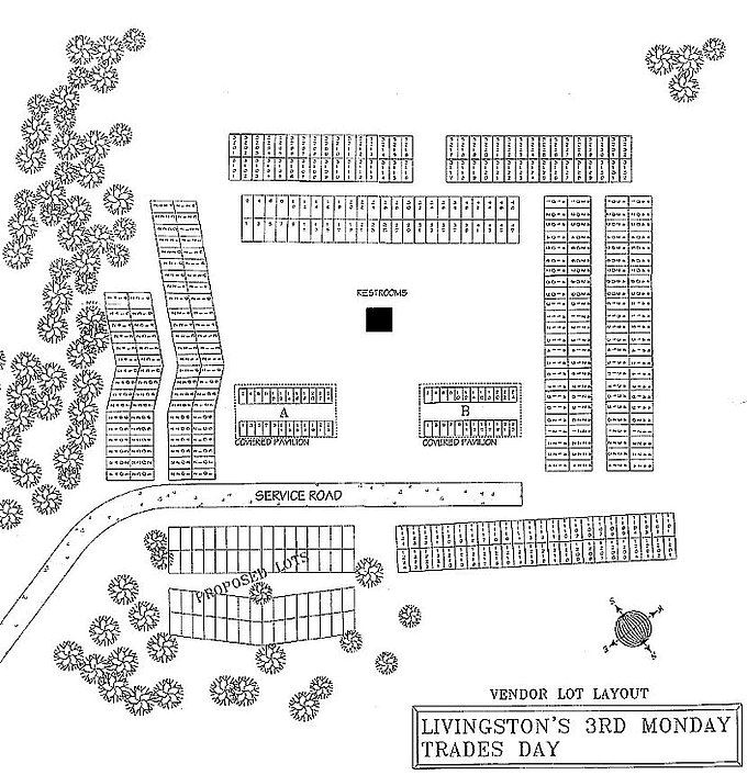 Trade Days Booth Layout Map